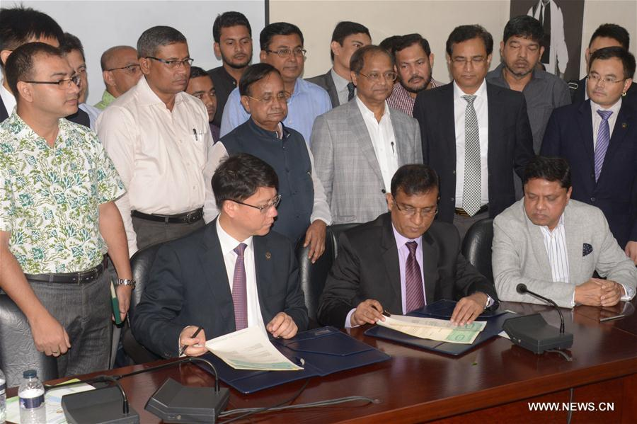 Bangladeshi Chinese Firms Sign Joint Venture Pacts To Build Railway
