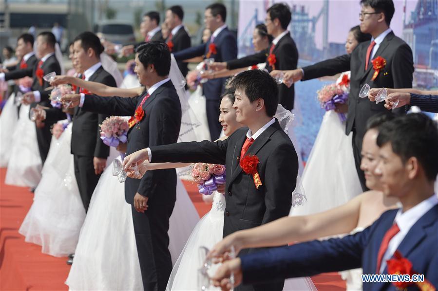 #CHINA-HEBEI-TANGSHAN-GROUP WEDDING (CN)