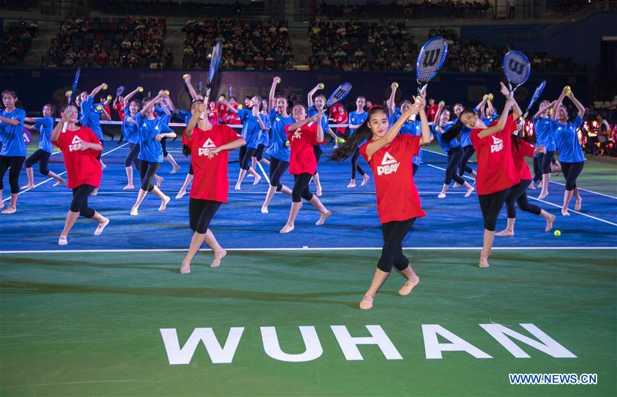 (SP)CHINA-WUHAN-TENNIS-WTA-WUHAN OPEN-OPENING CEREMONY(CN)