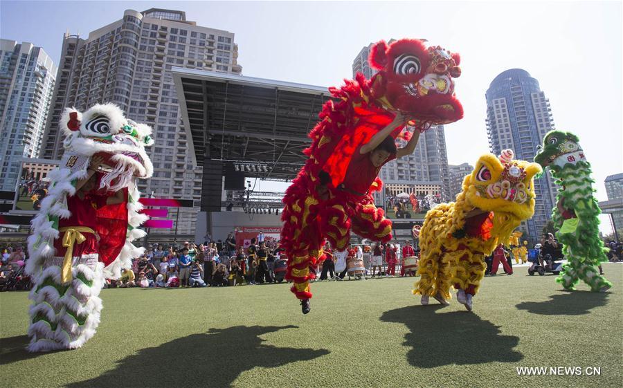 CANADA-ONTARIO-MISSISSAUGA-DRAGON LION DANCE FESTIVAL