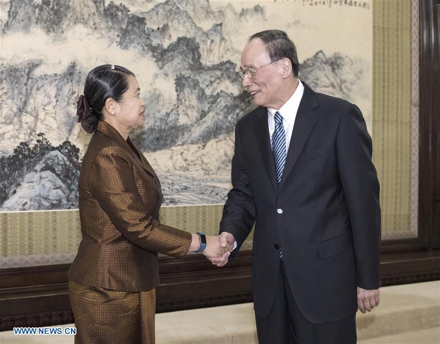 CHINA-BEIJING-WANG QISHAN-CAMBODIA-MEETING (CN)