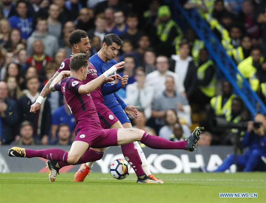 (SP)BRITAIN-LONDON-FOOTBALL-PREMIER LEAGUE-CHELSEA VS MAN CITY