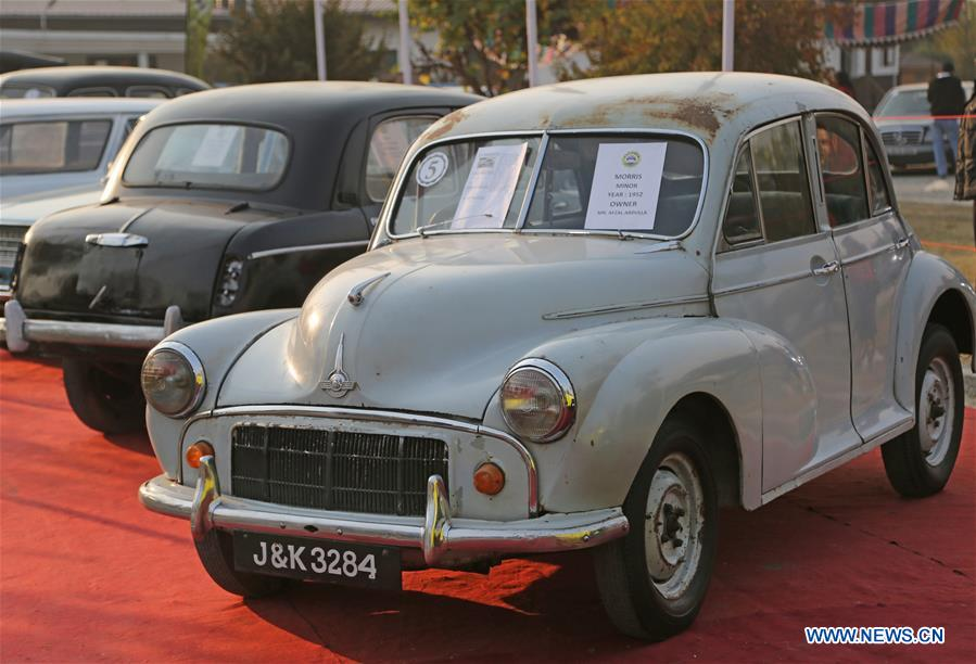 Vintage car exhibition held in Indian-controlled Kashmir - Xinhua ...