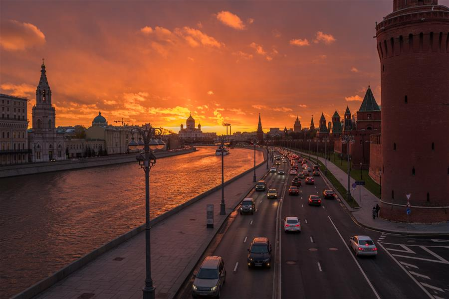RUSSIA-MOSCOW-SUNSET