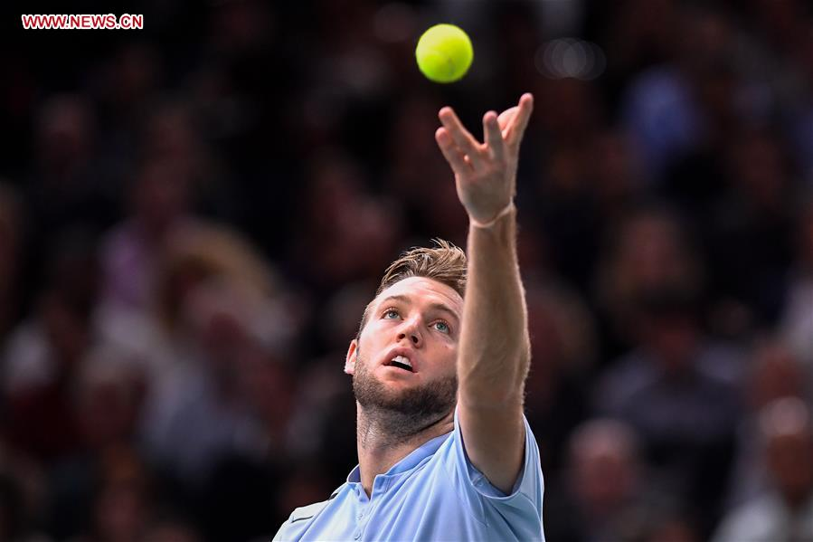 Jack Sock Filip Krajinovic Compete At Atp World Tour Masters 1000