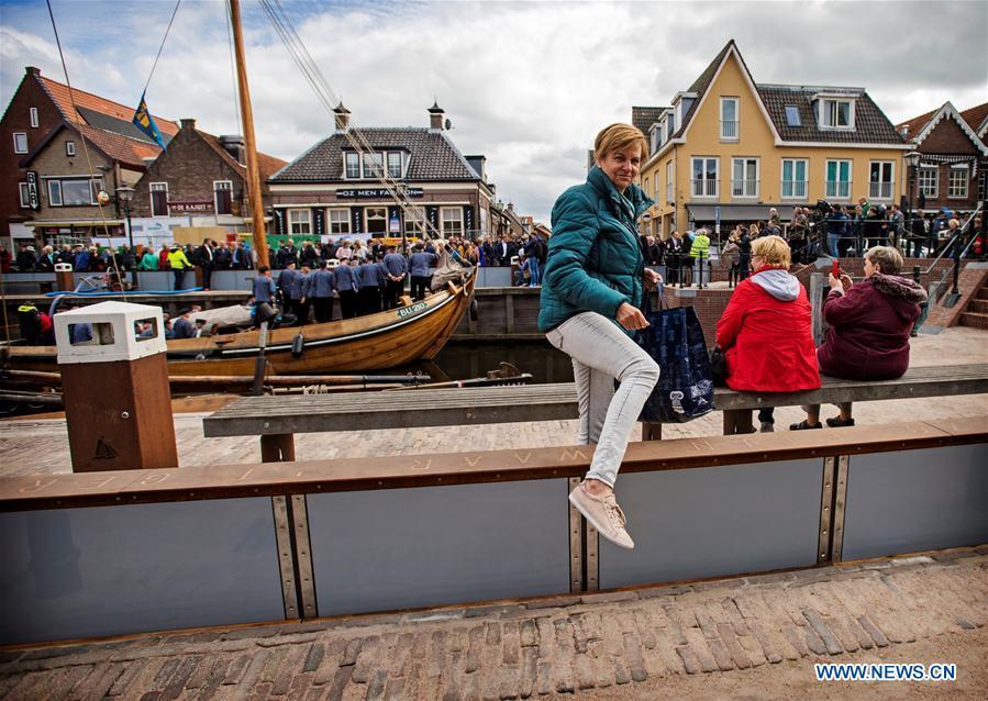 THE NETHERLANDS-SPAKENBURG-FLOOD BARRIER