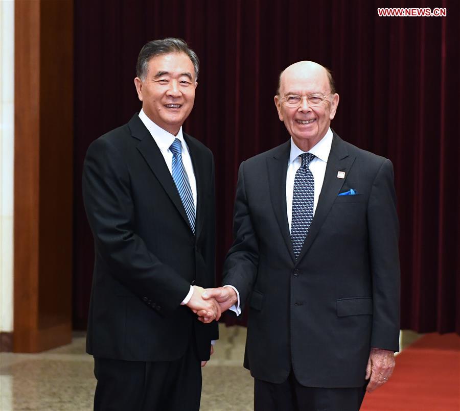 CHINA-BEIJING-WANG YANG-U.S. COMMERCE SECRETARY-TALKS (CN)