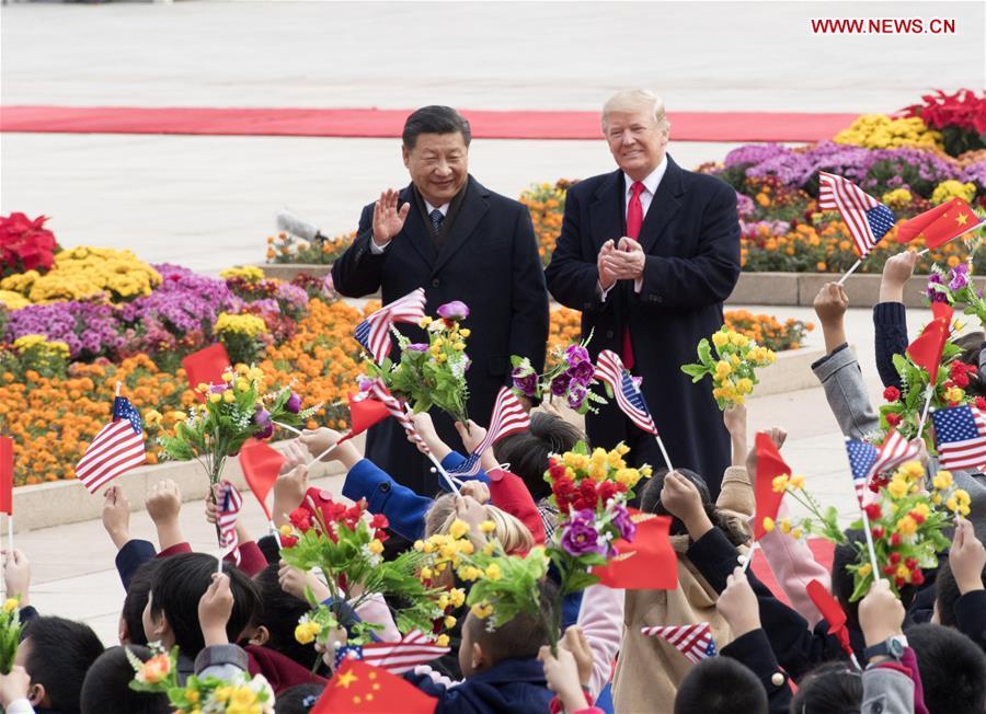 CHINA-BEIJING-XI JINPING-TRUMP-WELCOME CEREMONY (CN)
