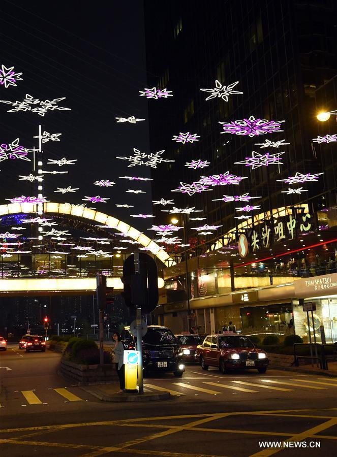 CHINA-HONG KONG-CHRISTMAS LIGHTS (CN)