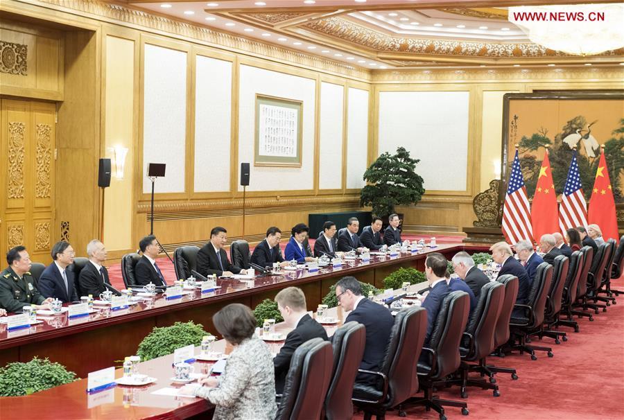 CHINA-BEIJING-XI JINPING-TRUMP-TALKS(CN)