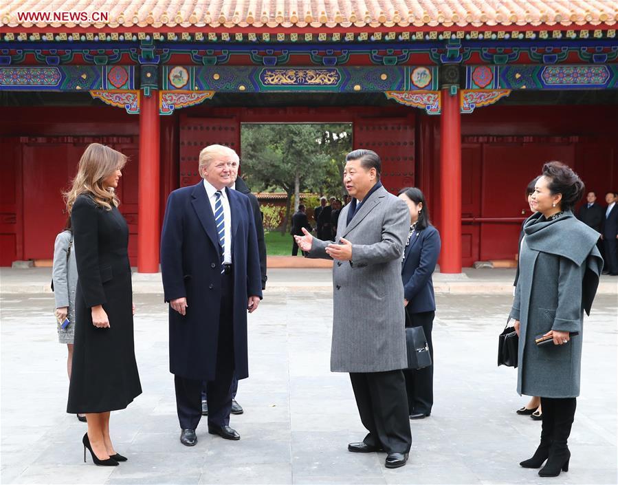 CHINA-BEIJING-XI JINPING-TRUMP-PALACE MUSEUM-AFTERNOON TEA(CN)