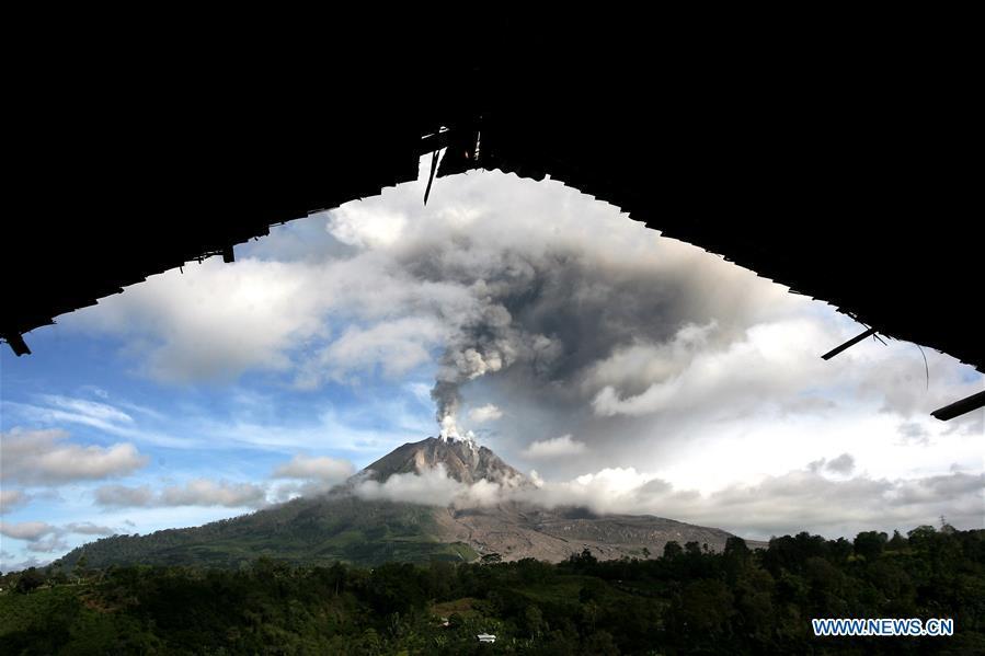 INDONESIA-NORTH SUMATRA-MOUNT SINABUNG-ERUPTION
