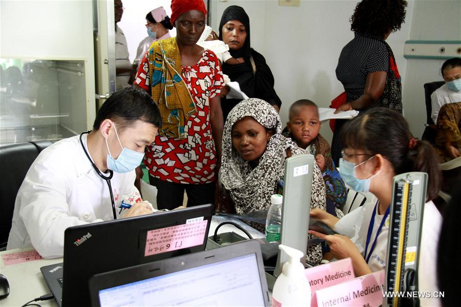 TANZANIA-DAR ES SALAAM-CHINESE NAVAL HOSPITAL SHIP-FREE MEDICAL SERVICES