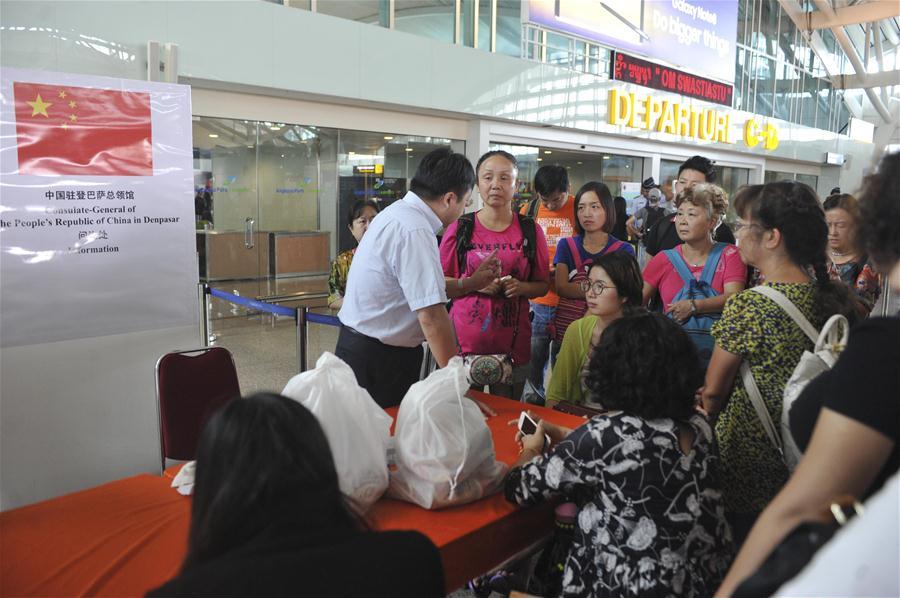 INDONESIA-BALI-CHINESE TOURIST-AIRPORT