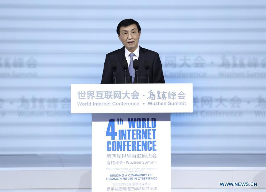 CHINA-ZHEJIANG-WANG HUNING-WORLD INTERNET CONFERENCE (CN)
