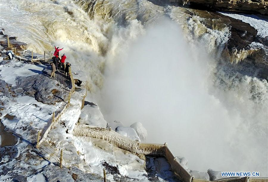 #CHINA-YELLOW RIVER-HUKOU WATERFALL-WINTER SCENERY(CN)