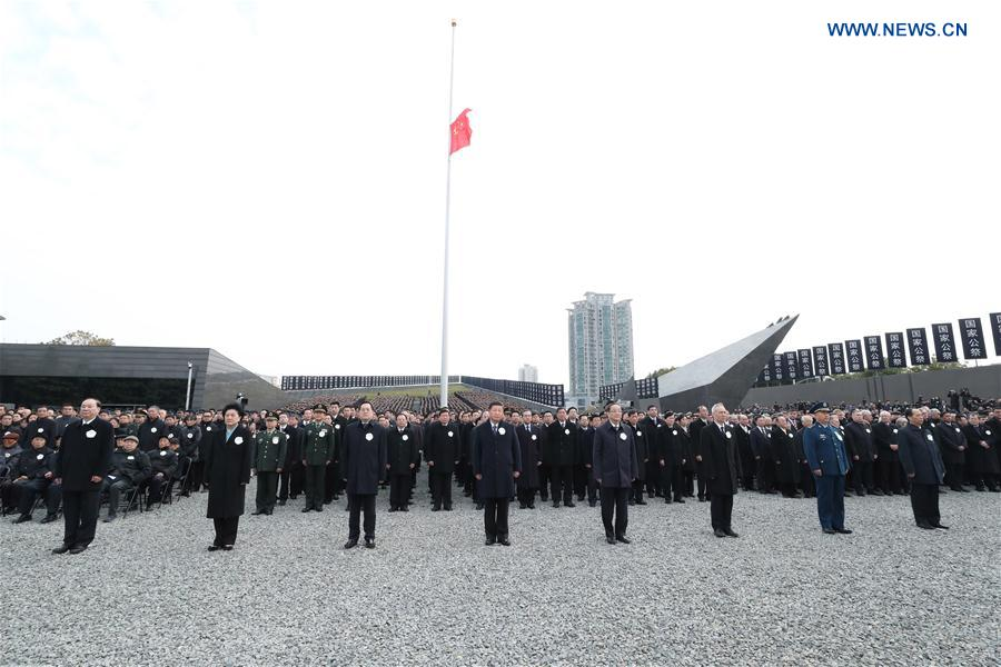 CHINA-NANJING MASSACRE VICTIMS-STATE MEMORIAL CEREMONY-XI JINPING (CN)