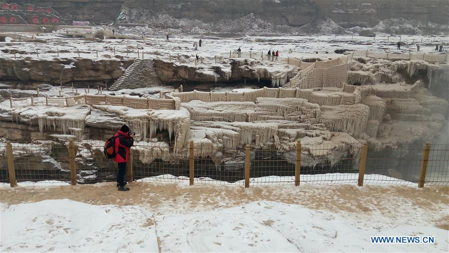 #CHINA-SHANXI-HUKOU WATERFALL-SNOWFALL (CN)