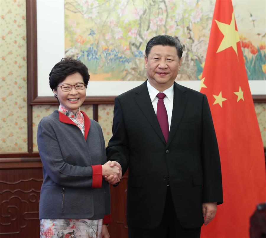 CHINA-BEIJING-XI JINPING-HONG KONG-MEETING (CN)