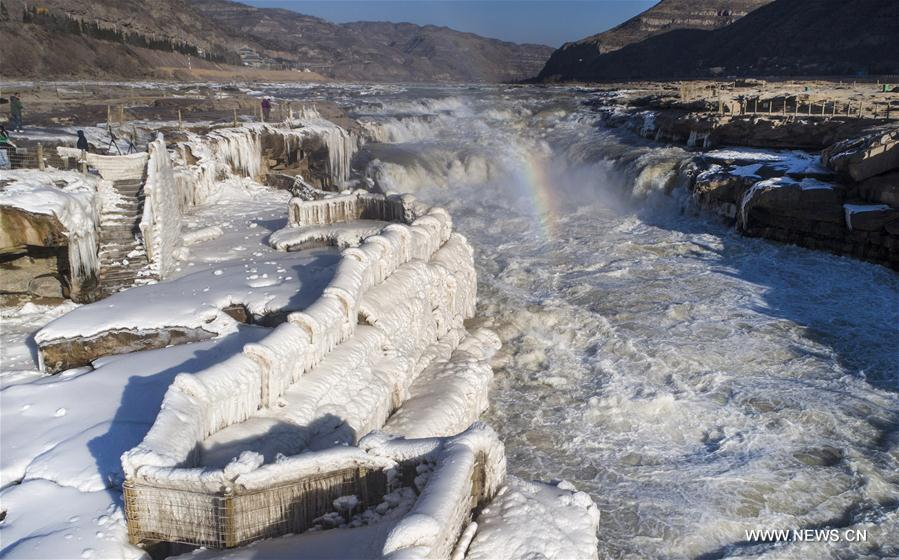 CHINA-YELLOW RIVER-HUKOU WATERFALL-WINTER SCENERY(CN)