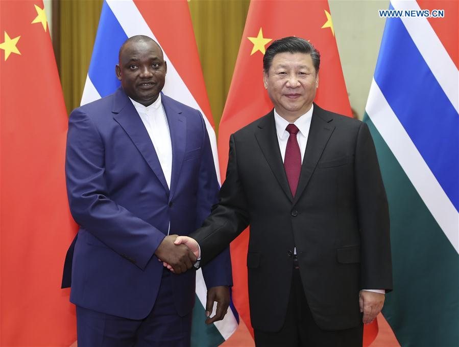 CHINA-BEIJING-XI JINPING-GAMBIA-PRESIDENT-TALKS (CN)