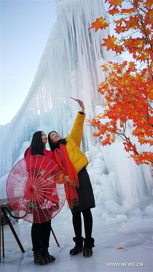 CHINA-HEBEI-SHIJIAZHUANG-FROZEN WATERFALL (CN)