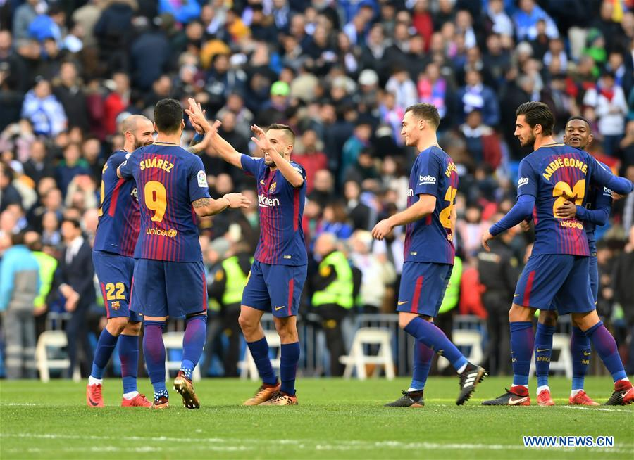 Spanish la liga barcelona beats real madrid 3 0 xinhua english spspain madrid soccer la liga real madrid vs barcelona stopboris Gallery