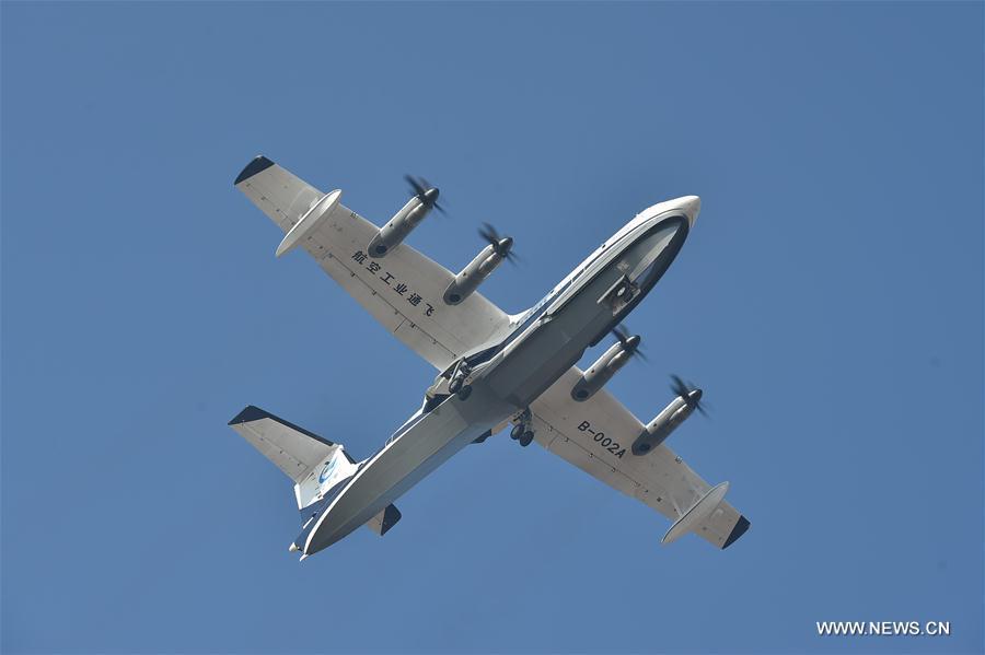 CHINA-GUANGDONG-LARGE AMPHIBIOUS AIRCRAFT-AG600-MAIDEN FLIGHT (CN)