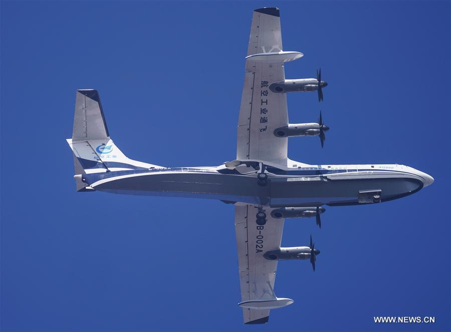China Focus: China's first domestic large amphibious aircraft makes maiden flight - Xinhua   English.news.cn
