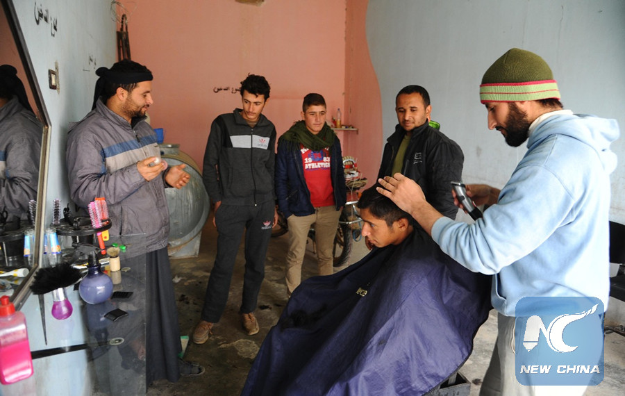 15 Year Old Boy Enjoys 1st Modern Haircut After Is Fallout In Raqqa
