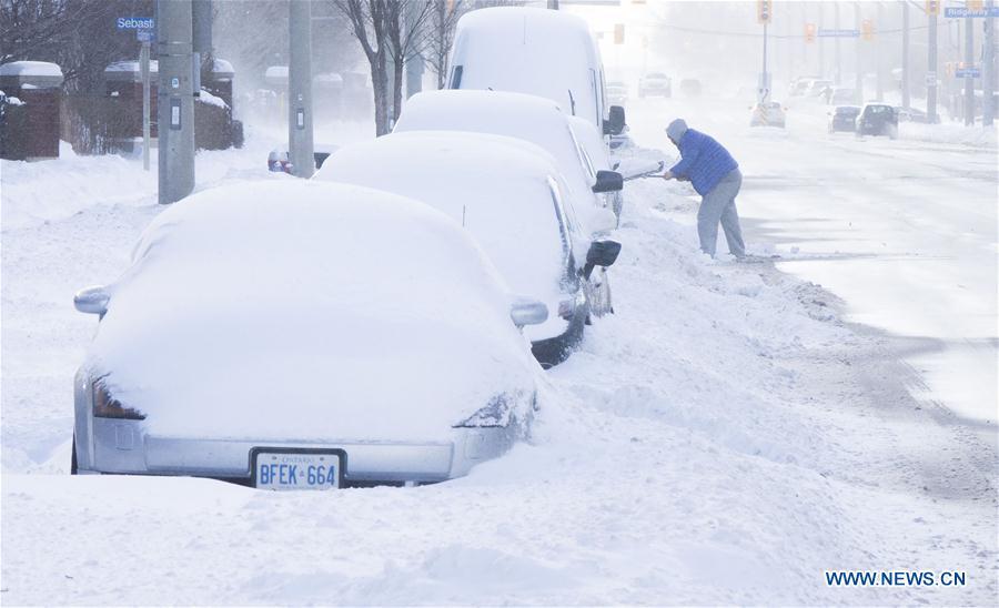 CANADA-TORONTO-SNOW