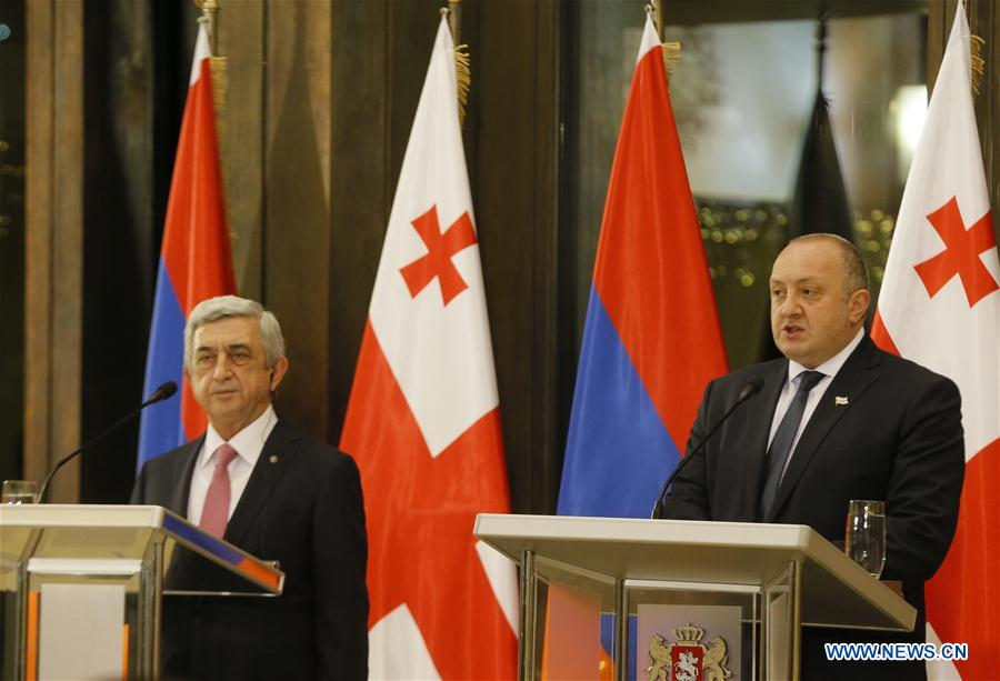 GEORGIA-TBILISI-ARMENIA-PRESIDENT-VISIT
