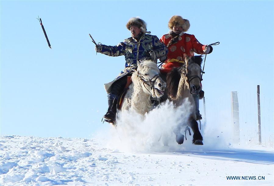 #CHINA-INNER MONGOLIA-XILINGOL-WINTER-HORSE(CN)