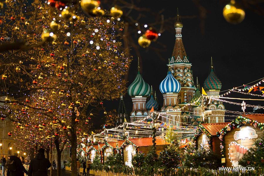 RUSSIA-MOSCOW-NEW YEAR-DECORATIONS