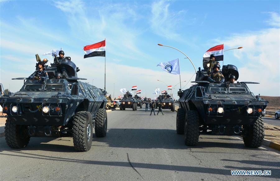 IRAQ-MOSUL-MILITARY PARADE