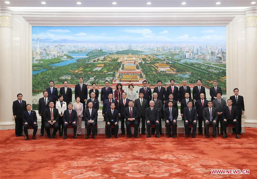 Xi pledges to enhance party-to-party exchanges with Japan