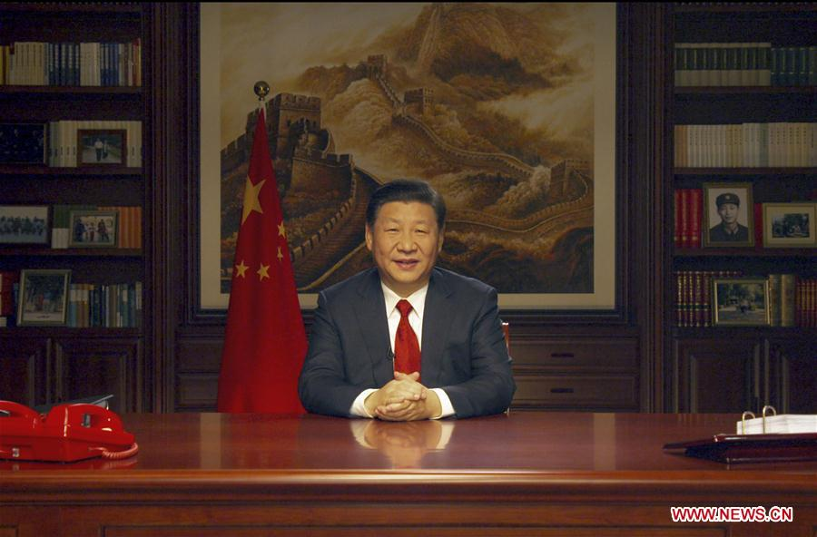 chinese president xi jinping delivers a new year speech to extend new year greetings to all chinese and best wishes to friends all over the world