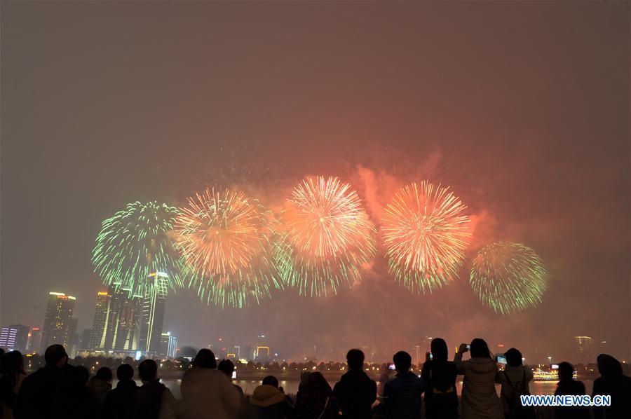 CHINA-CHANGSHA-FIREWORKS-NEW YEAR(CN)