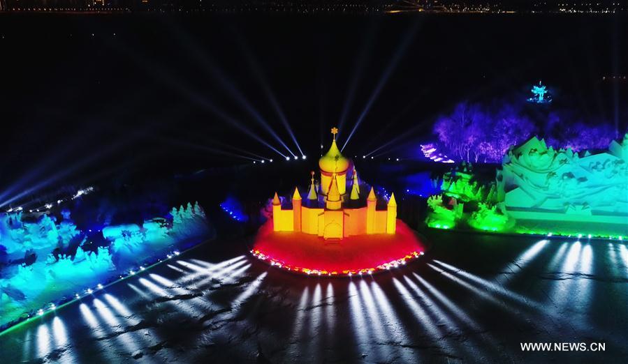 CHINA-HARBIN-SNOW SCULPTURE-LIGHT SHOW (CN)