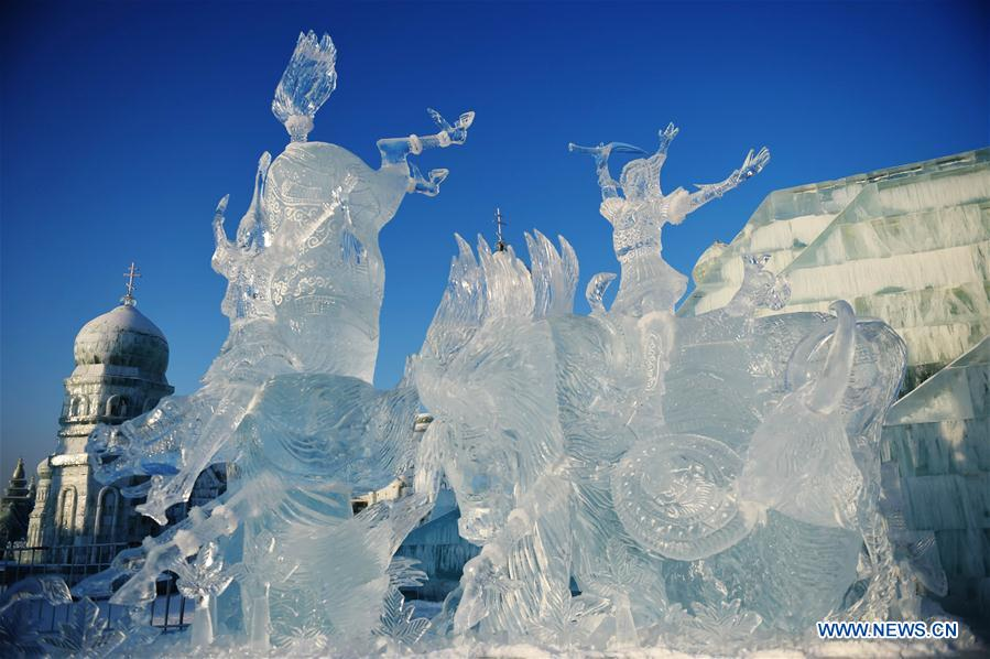 CHINA-HARBIN-ICE SCULPTURE CONTEST (CN)
