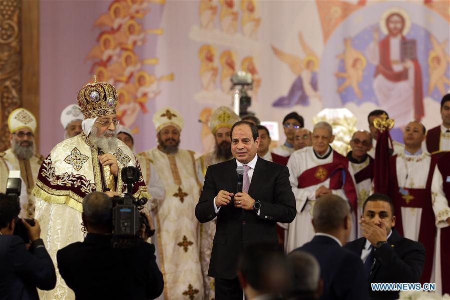 Egypt's Sisi attends Coptic Christmas
