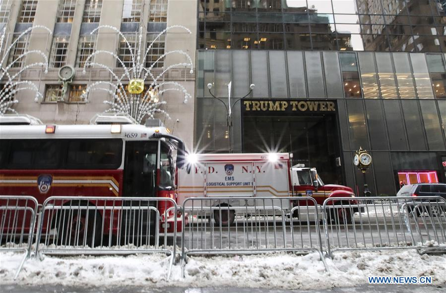 U.S.-NEW YORK-TRUMP TOWER-FIRE
