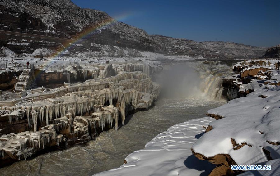 CHINA-YELLOW RIVER-HUKOU WATERFALL-WINTER SCENERY (CN)
