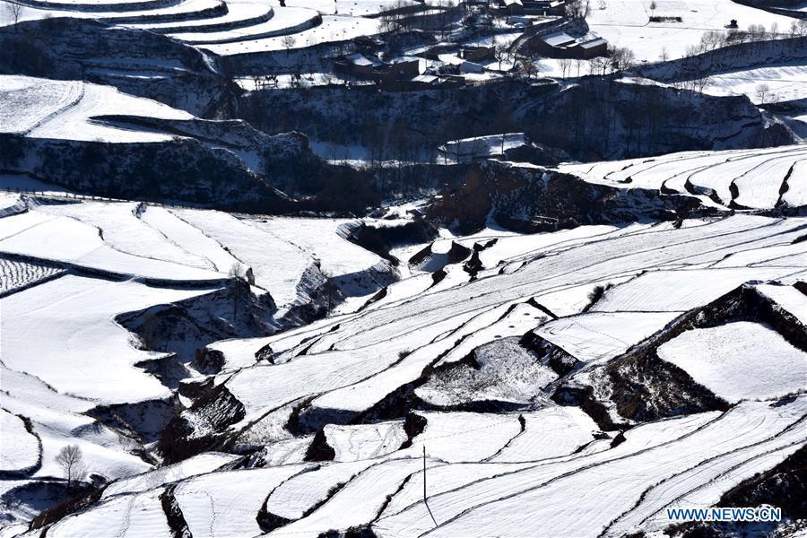#CHINA-GANSU-TERRACE-SNOW(CN)