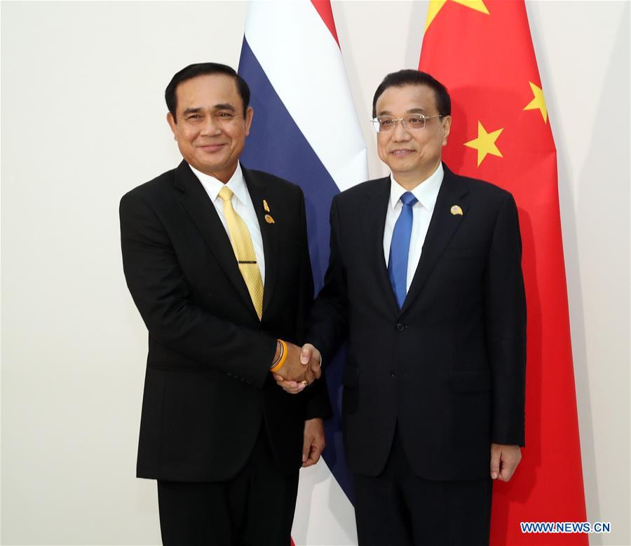 CAMBODIA-PHNOM PENH-CHINA-LI KEQIANG-THAI PM-MEETING