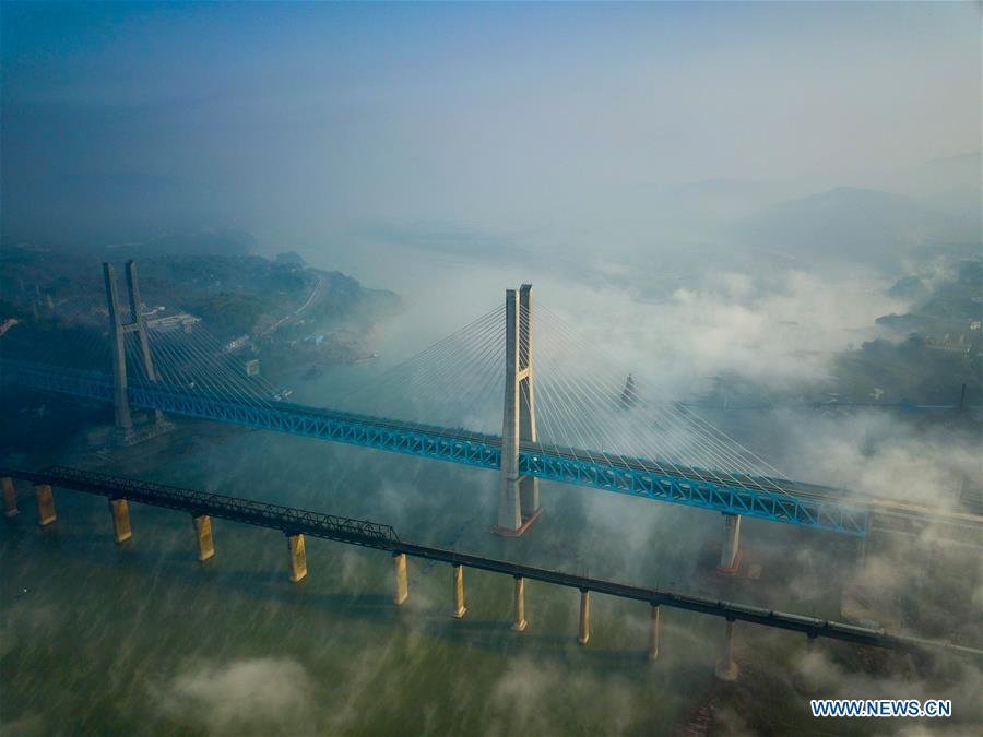 CHINA-CHONGQING-TRUSS-CABLE STAY-BRIDGE (CN)