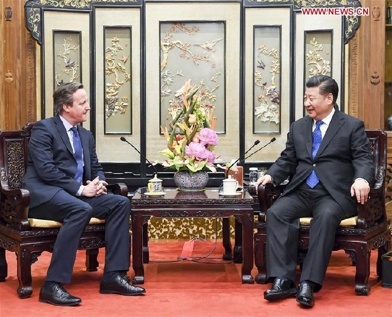 CHINA-BEIJING-XI JINPING-FORMER BRITISH PM-MEETING (CN)