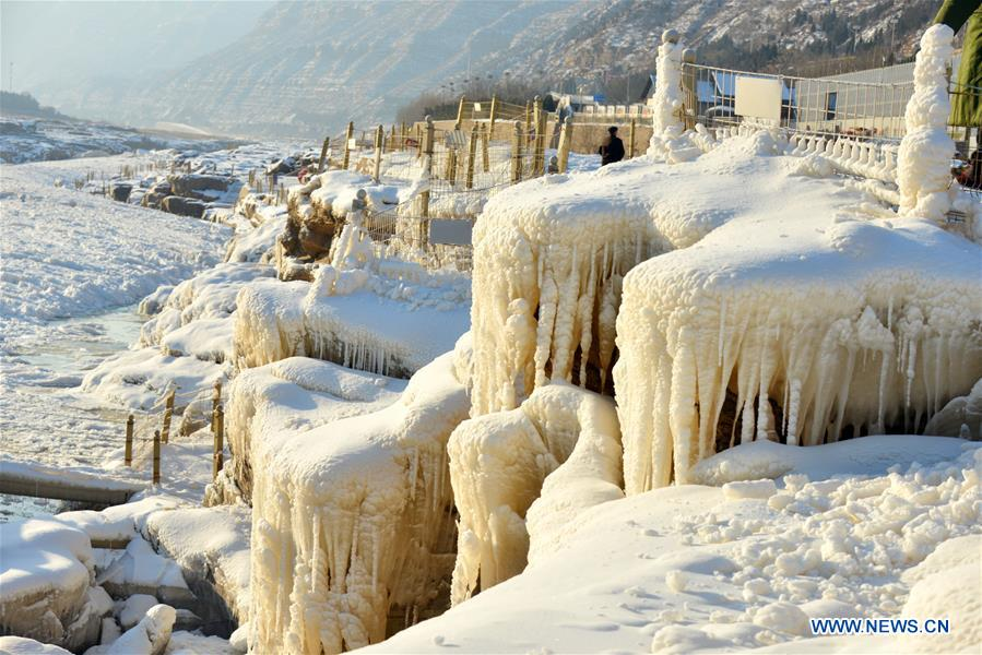 #CHINA-YELLOW RIVER-HUKOU WATERFALL-WINTER SCENERY (CN)