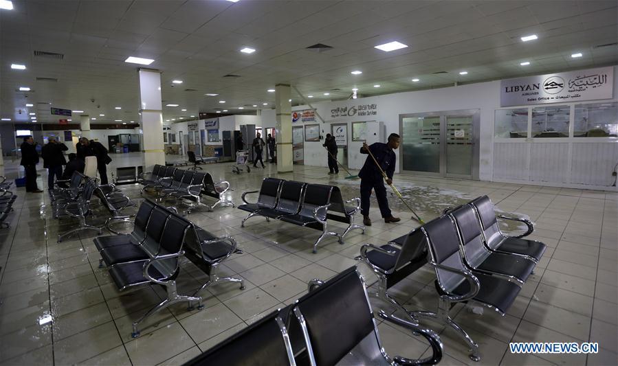 LIBYA-TRIPOLI-AIRPORT-ATTACK