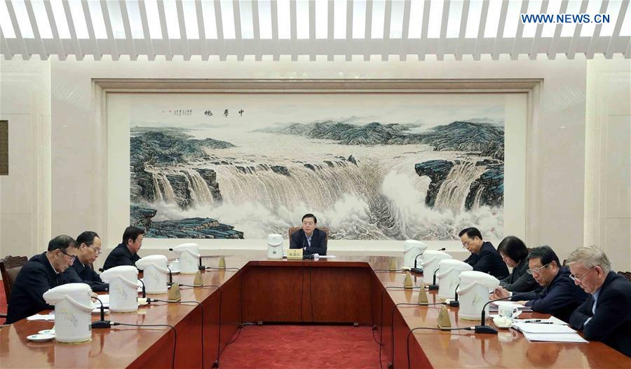 CHINA-BEIJING-NPC-ZHANG DEJIANG-MEETING (CN)